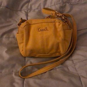 Lemon Yellow Coach Small Bag